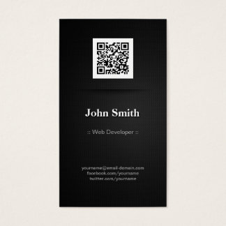 Web Developer - Elegant Black QR Code