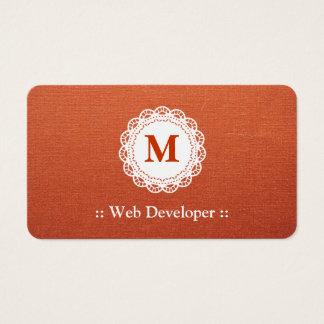 Web Developer - Elegant Lace Monogram