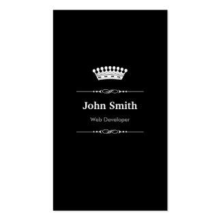 Web Developer Elegant Royal Black White Pack Of Standard Business Cards