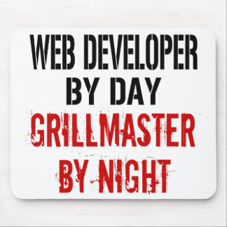 Web Developer Grillmaster Mouse Mat