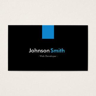 Web Developer Modern Aqua Blue Business Card