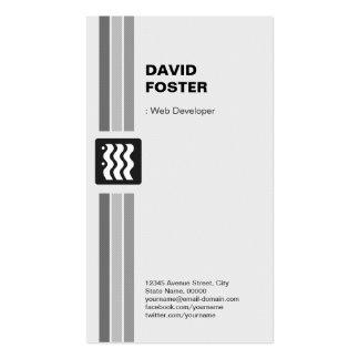 Web Developer - Modern Black White Pack Of Standard Business Cards