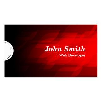 Web Developer - Modern Dark Red Business Cards