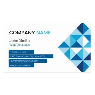 Web Developer - Modern Diamond Shape Pack Of Standard Business Cards