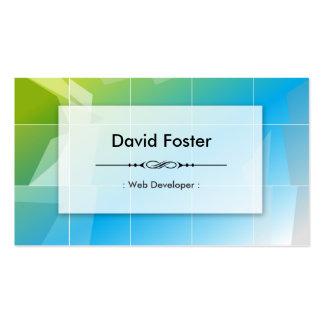 Web Developer - Modern Elegant Simple Pack Of Standard Business Cards