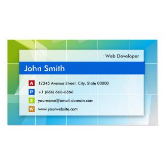 Web Developer - Modern Multipurpose Pack Of Standard Business Cards