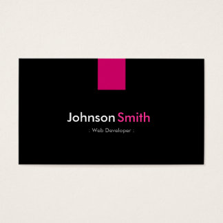 Web Developer Modern Rose Pink Business Card