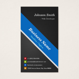 Web Developer - Premium Double Sided Business Card