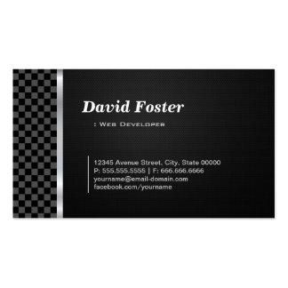 Web Developer Professional Black White Pack Of Standard Business Cards