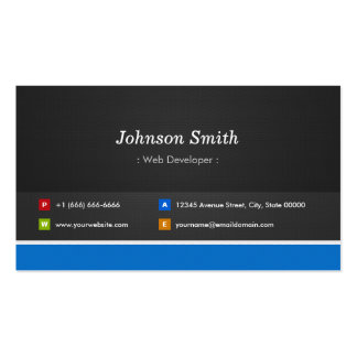 Web Developer - Professional Customizable Pack Of Standard Business Cards