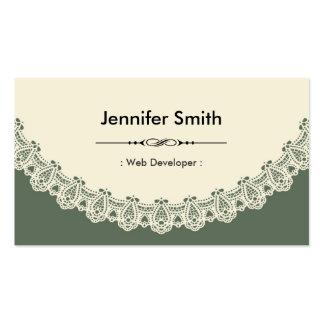 Web Developer - Retro Chic Lace Business Cards