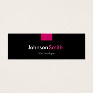 Web Developer - Rose Pink Compact Mini Business Card