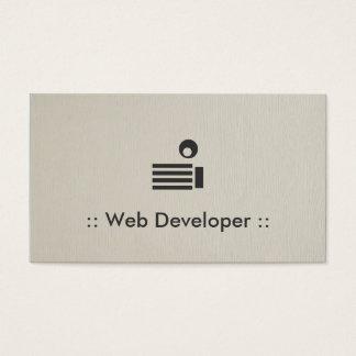 Web Developer Simple Elegant Professional