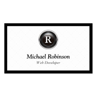 Web Developer - Simple Stylish Monogram Pack Of Standard Business Cards