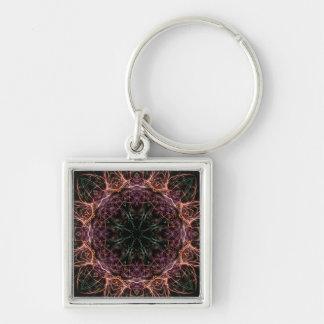 Web of Color Kaleidoscope Keychain