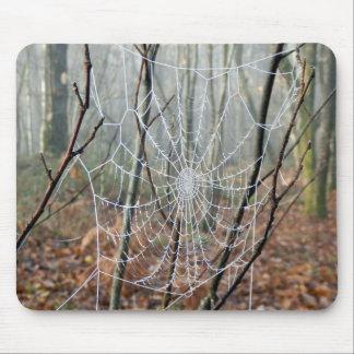Web of European Garden Spider Mpuse Mat Mouse Mat