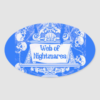 Web of Nightmares Oval Sticker