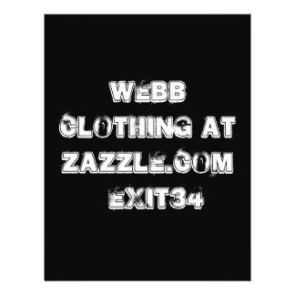 Webb clothing at zazzle com exit34 full color flyer
