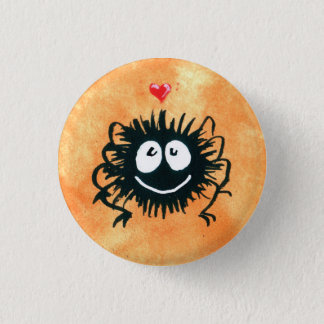 Webber the Spider Loves Halloween! 3 Cm Round Badge