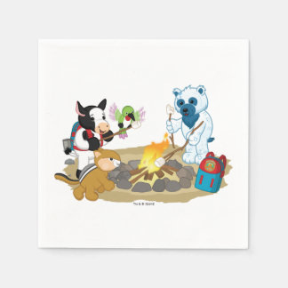 Webkinz | Campfire Marshmallows Disposable Napkins