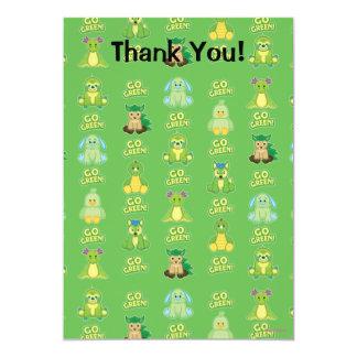 Webkinz Go Green Pattern 13 Cm X 18 Cm Invitation Card