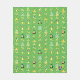 Webkinz Go Green Pattern Fleece Blanket