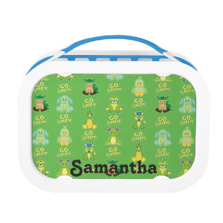 Webkinz Go Green Pattern Lunch Box