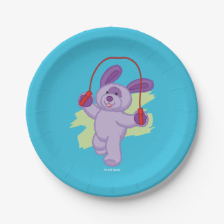 Webkinz | Grape Soda Pup Skipping Rope 7 Inch Paper Plate