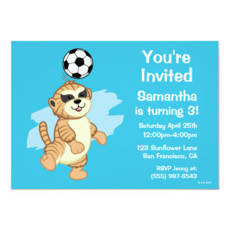 Webkinz | Meerkat Playing Soccer Card