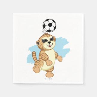 Webkinz | Meerkat Playing Soccer Disposable Serviettes