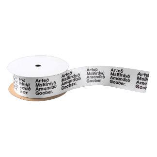 Webkinz Names Design Satin Ribbon