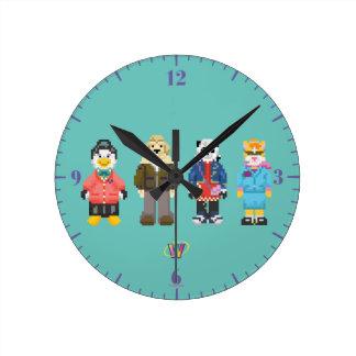 Webkinz Pixel Hosts Round Clock