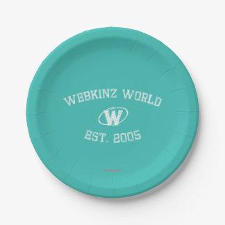 Webkinz World Est. 2005 Paper Plate