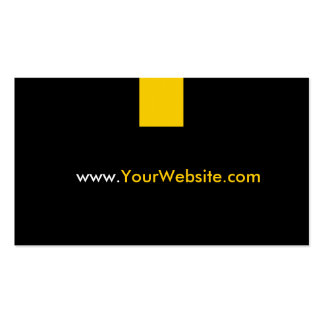 Website Promotion Advertisement - Yellow Style Business Cards