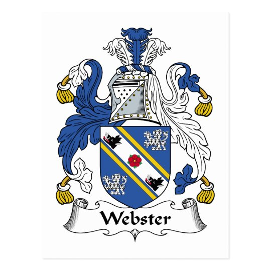 Webster Family Crest Postcard