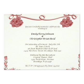 Wedding 14 Cm X 19 Cm Invitation Card