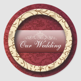 Wedding 2 classic round sticker