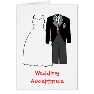 Wedding acceptance Bride & Groom Card