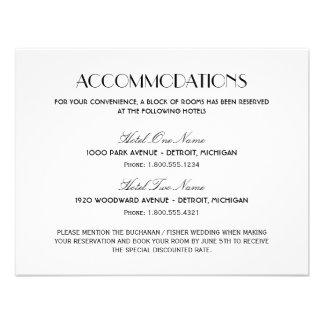 Wedding Accommodation Card | Art Deco Style