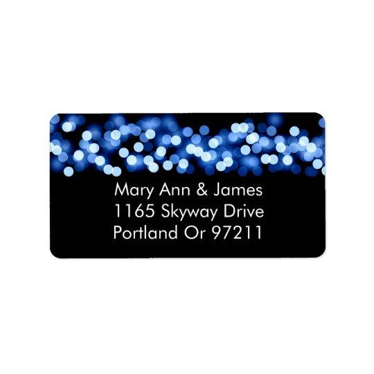 Wedding Address Blue Hollywood Glam Label