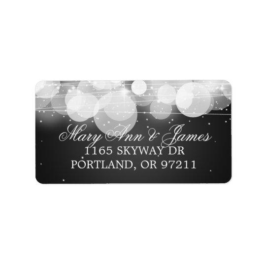 Wedding Address Glow & Sparkle Black Label