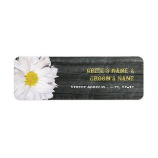 Wedding Address Label - Daisy & Barnwood