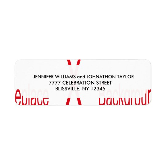 Wedding Address Label Template