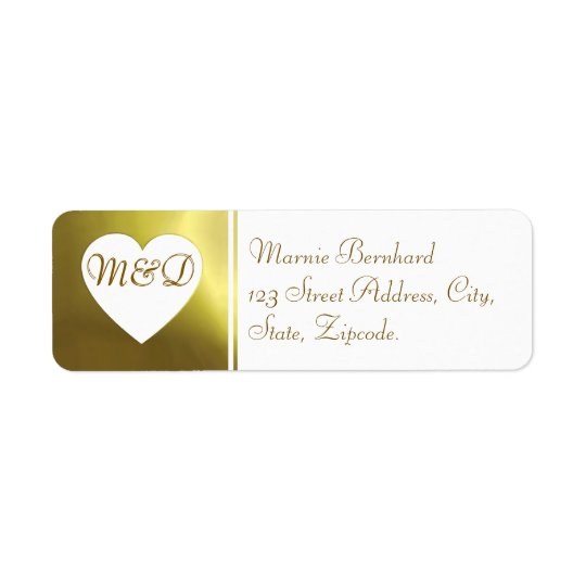 Wedding Address Label | White Golden Collection