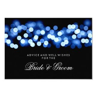 Wedding Advice Card Blue Hollywood Glam 9 Cm X 13 Cm Invitation Card