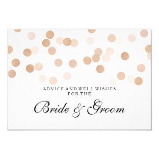 Wedding Advice Card Copper Foil Glitter Lights 9 Cm X 13 Cm Invitation Card