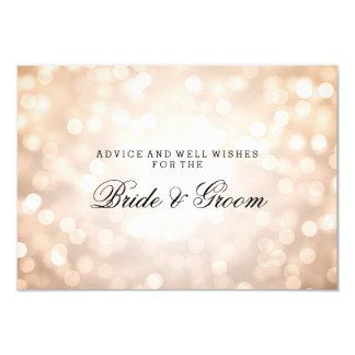 Wedding Advice Card Copper Glitter Lights 9 Cm X 13 Cm Invitation Card