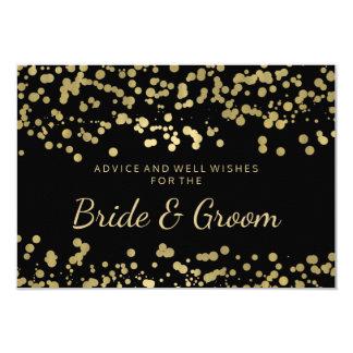 Wedding Advice Card Gold Foil Look Confetti 9 Cm X 13 Cm Invitation Card