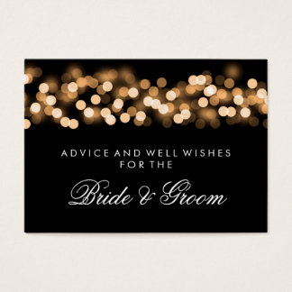 Wedding Advice Card Gold Hollywood Glam