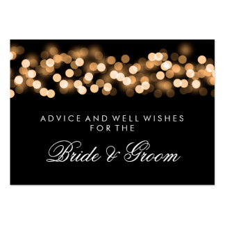 Wedding Advice Card Gold Hollywood Glam Pack Of Chubby Business Cards